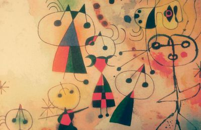 "joan miro ""dames aux robes multicolores"""