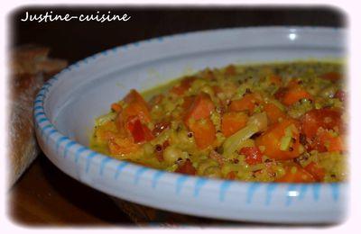 Curry de pois chiches aux légumes oranges / Passe-plats entre amis#4
