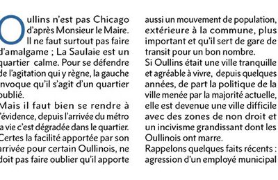 Tribune libre d'Oullins Bleu Marine – Avril 2017