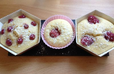 Muffins fruits rouges/citrons
