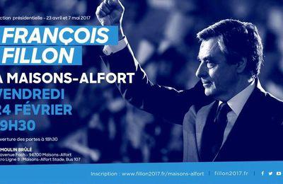 François Fillon à Maisons-Alfort vendredi soir !