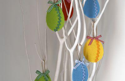 Oeufs de Pâques en feutrine