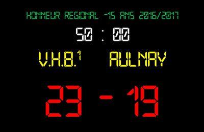 VHB vs Aulnay (Honneur Régional -15 Ans) 12.03.2017