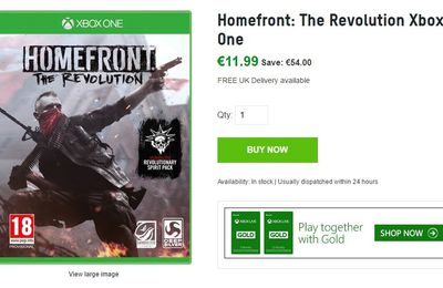 (Bon plan) Homefront : The Revolution à 11,99 euros chez zavii.com