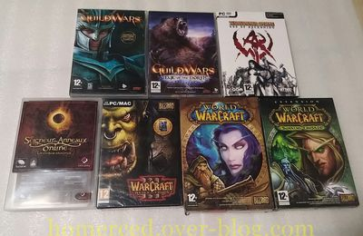 (Arrivage) Arrivage du 24/09/2017 Lot de MMORPG World of Warcraft, Guild Wars et Warhammer
