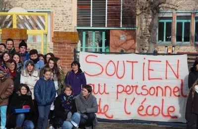 Samedi 28 janvier : tous au rassemblement de soutien aux personnels de l'école de Vieille Brioude