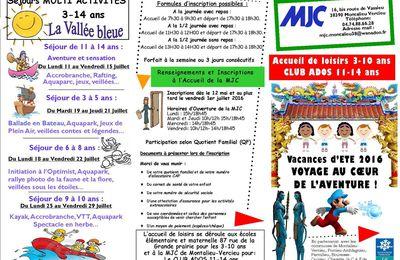 ACCUEIL DE LOISIRS 3-10 ANS VACANCES ETE