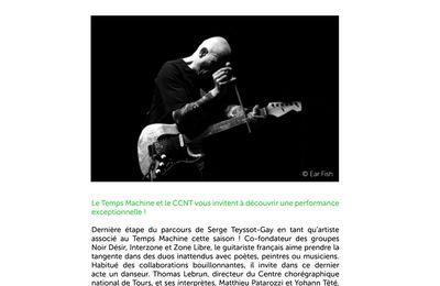 30 juin 12h Serge Teyssot-Gay, Thomas Lebrun & ses danseurs, place de la monnaie