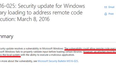 """Veille - La faille Microsoft avec une explication """"Ouate de Phoque""""...."""