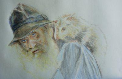 portrait: le vieil homme et son ami