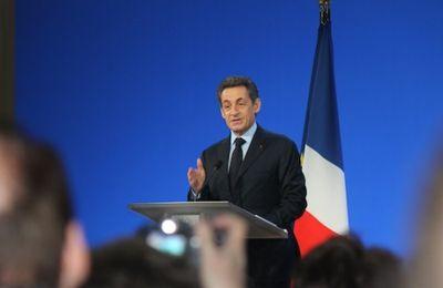 Nicolas  Sarkozy à Rillieux-la-Pape.