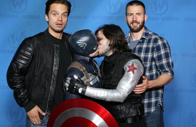 Captain America & Winter Soldier : le baiser officiel