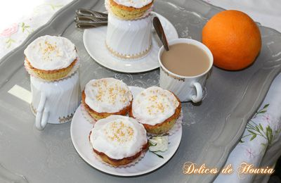 Cupcakes orange et pavot