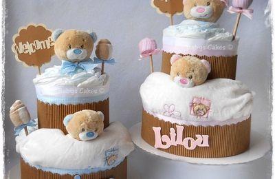 Gâteaux de couches jumeaux