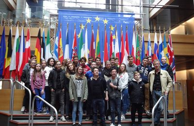 The European experience continues : French students visited the European Parliament last week!