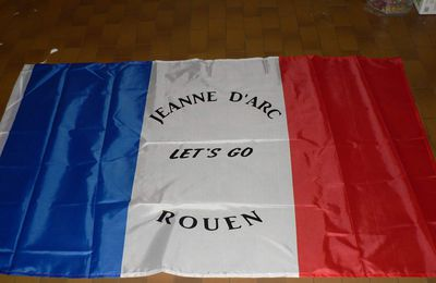 Drapeau customisé jeanne d'arc