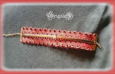 bracelet dentelle et cuir