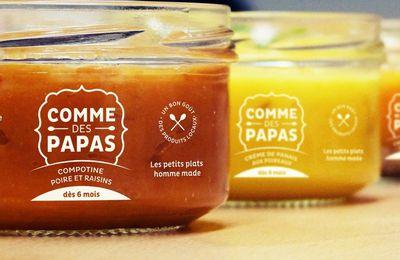 """Comme des papas, pots pour bébés """"homme made"""""""