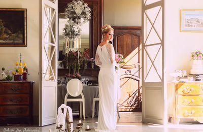 MARIAGE AU CHÂTEAU PUECH-HAUT : INSPIRATION FRENCH RIVIERA RETRO [1]