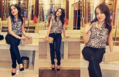 Last friday night, leopard blouse