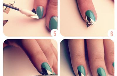 Nails art avec papier alu