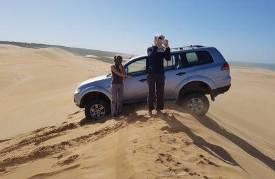 VIDEO inititiation conduite sur sable Christelle et Sabrina Maroc 2017