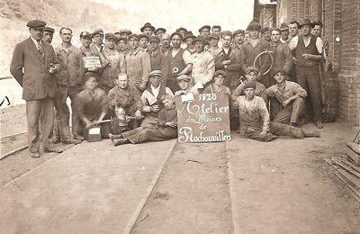 Atelier des mines de Rochonvillers à Algrange en 1928