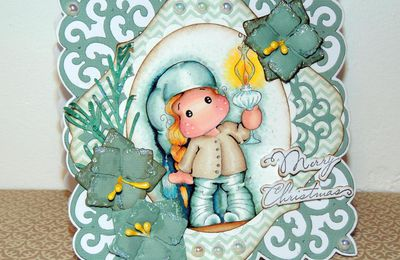 "Carte Magnolia ""merry Christmas"""