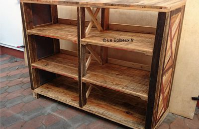 portes de meubles grillages recycl s plateaux de table en bois recycl sur mesure. Black Bedroom Furniture Sets. Home Design Ideas