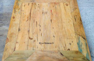 Plateau bois recyclé 60 x 60 cm