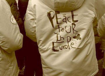 """""""Tour d'Europe pour la paix"""" : une initiative soutenue par l'AAFC à Oradour-sur-Glane"""