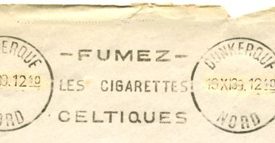 Flamme postale 1939 DUNKERQUE