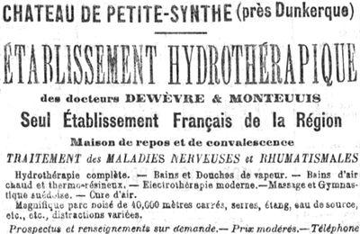 Petite-Synthe: château et Institut médical du Dr Dewevre