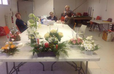 Voici une autre photo des compositions florales