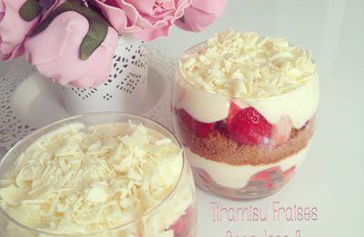 Tiramisu Fraises , Chocolat Blanc & Spéculoos