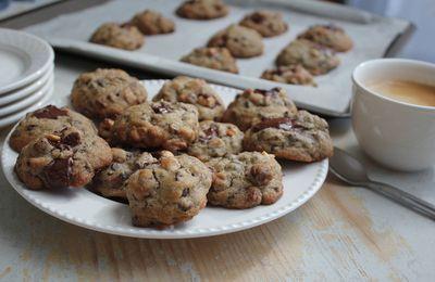 """Les """" cookies noisettes- chocolat  pour Chiara"""" sans gluten"""