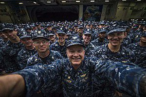 George Washington Frocks New Generation of Petty Officers