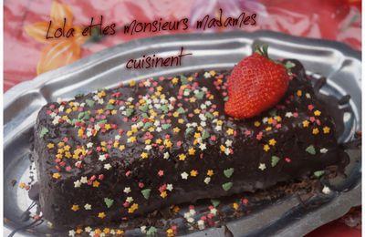 Gâteau au yaourt parfumé à la fraise