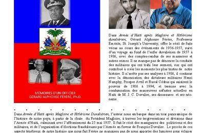 """Extrait  de """"Armée d'Haïti après Magloire et Hitlérisme Duvaliérien"""" par Gérard Alphonse Férère, Ph.D. Professeur Émérite, Saint Joseph's University"""