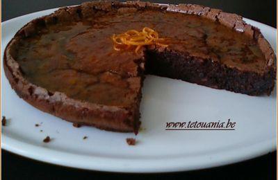 Gâteau extra moelleux au chocolat et sirop d'orange (Sans farine)