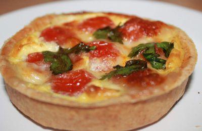 Tartelettes tomates cerise mozzarella