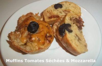 Muffins Tomates Séchées & Mozzarella
