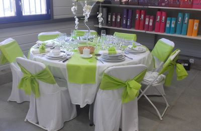 Ma table vert anis