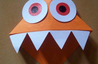 Marque page petit monstre d'halloween