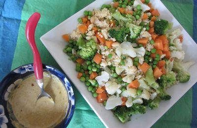 Céréales aux petits légumes