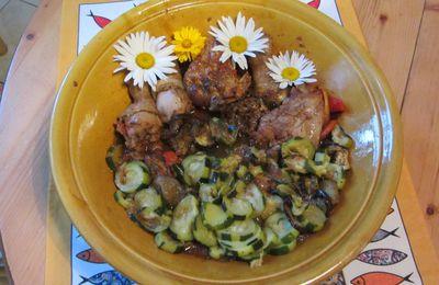 Tajine de poulet aux légumes d'été...