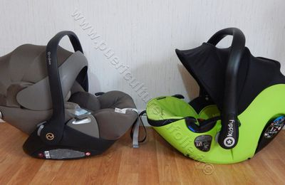 COMPARATIF COQUES KIDDY EVOLUTION PRO2 vs CYBEX CLOUD Q