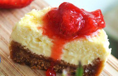 Cheesecake crémeux aux fraises