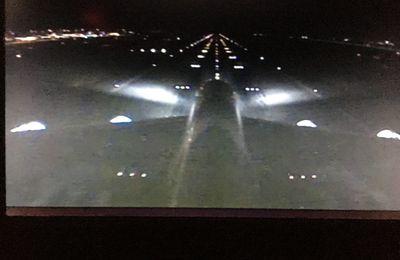 L'A380 de Thaï Airways se pose à Roissy