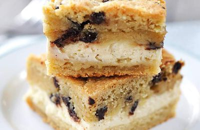 Carrés cookies-cheescake